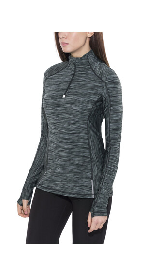 Prana Sierra Long Sleeve Women 1/4 Zip Charcoal
